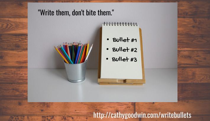 copywriting tips for entrepreneurs, small business owners and copywriters including how to write a bullet