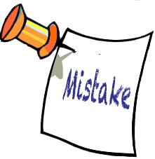 mistake copy