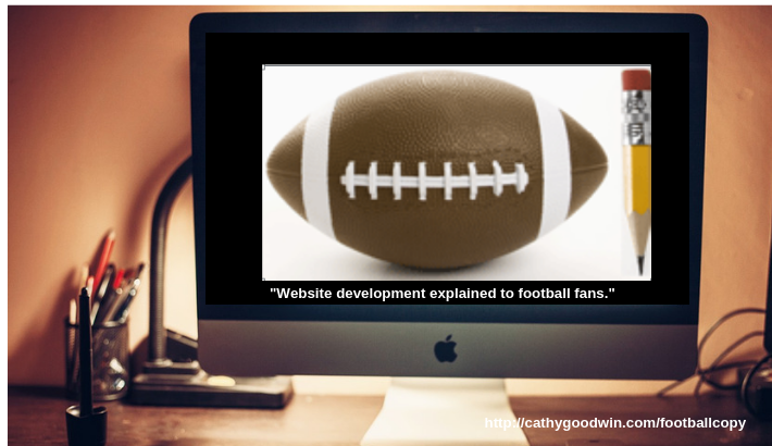 website development and websitecopywriting and web design: all explained by football