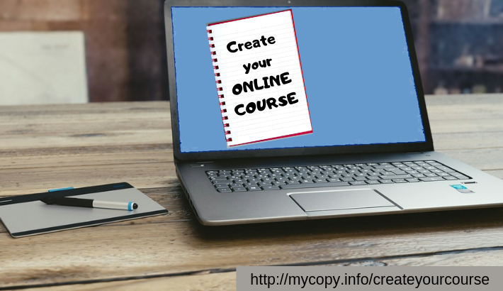 online course creation with copywriting